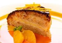 Апельсиново-бисквитный торт под шоколадной глазурью