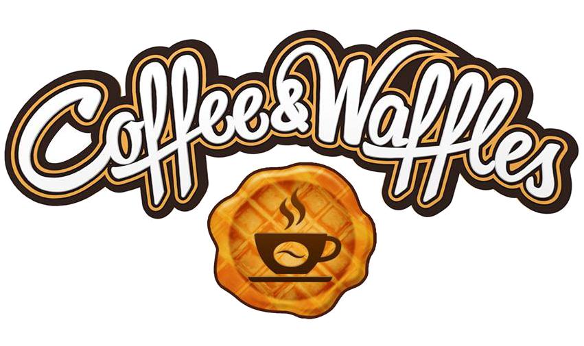 Логотип Кофейни-кондитерской Coffee&Waffles (бельгийские вафли) расположенной в центре города