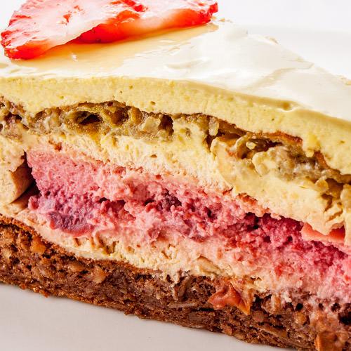 Фисташковый торт с вишневым крем-брюле - купить торт в Харькове