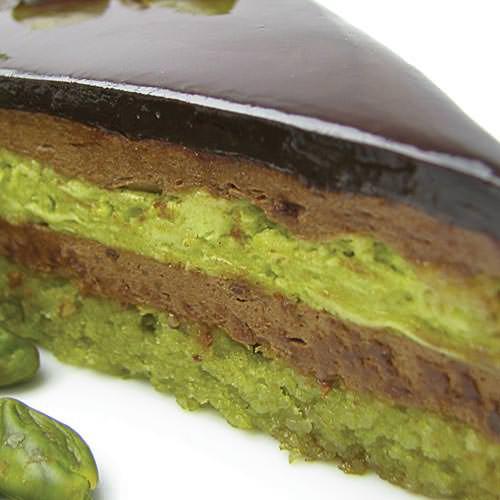 Шоколадно-фисташковый торт - шоколадный торт на заказ, торт с фотографией