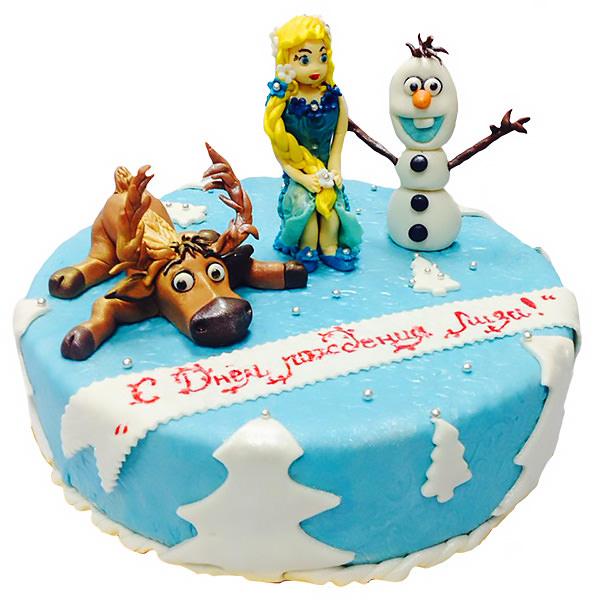 Фото -Детские торты на заказ на день рождения Холодное сердце