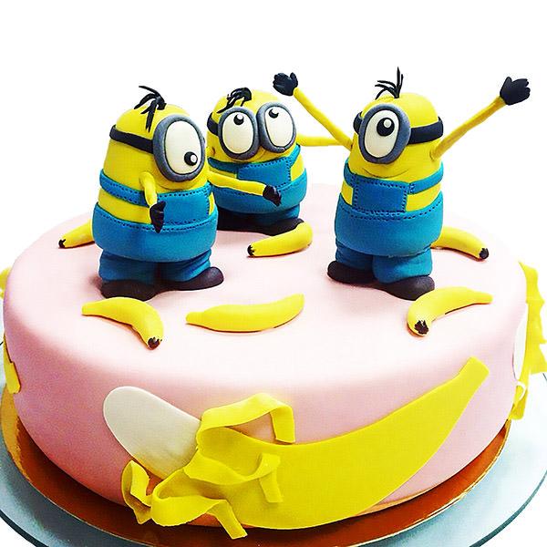 Торт Миньоны - детские торты на заказ Харьков СВ - фото