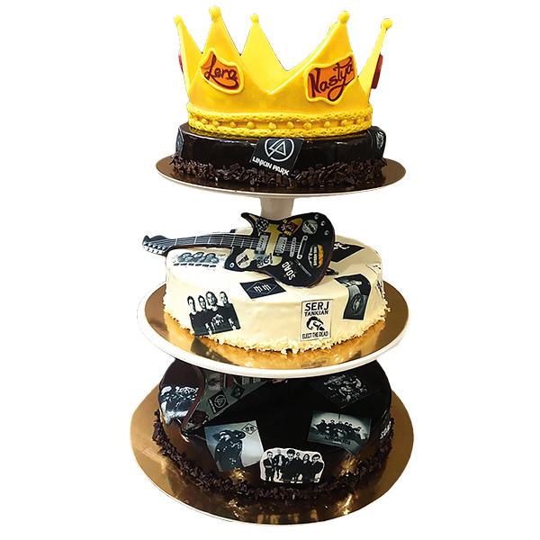 Фото оригинального торта на музыкальную тематику с доставкой по городу Харькову