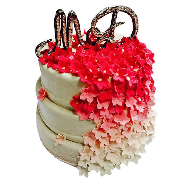 Праздничный торт в цветах - эксклюзивные торты Харьков - фото - Синдикат Вкуса