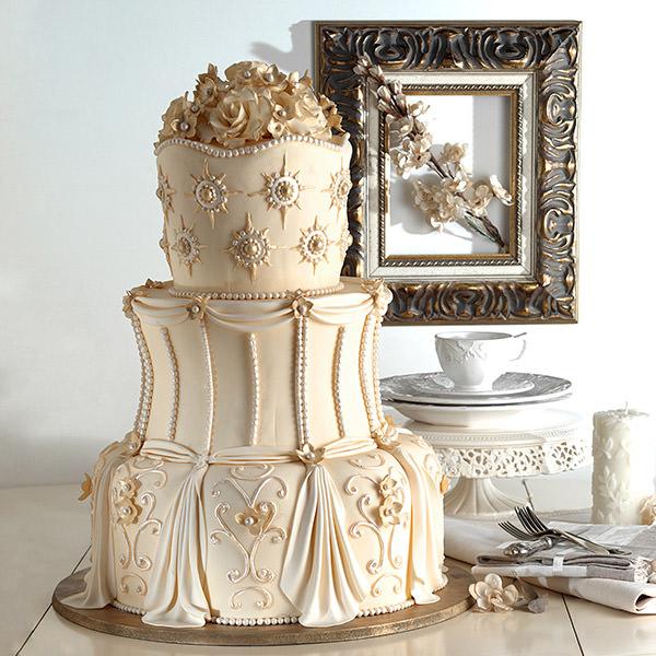 Свадебный торт в Харькове на заказ - пример торта