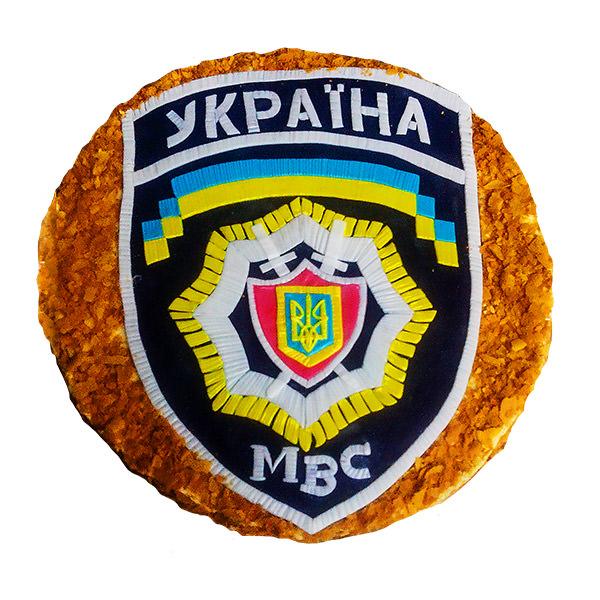 Заказать праздничный торт на день полиции или корпоративный праздник МВС