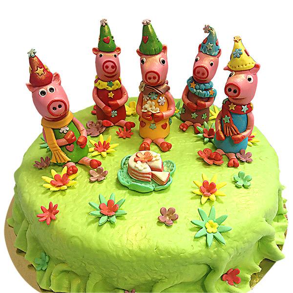 [:ru]Торт на заказ свинка Пеппа - детские торты Харьков Синдикат Вкуса - фото[:]
