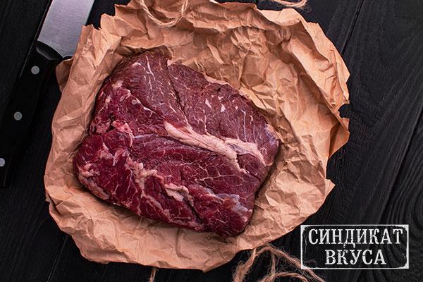 """Фото - стейк """"Чак ай (Chuck Eye)"""". Говяжье мясо. Как выглядит стейк Чак ай (Chuck Eye) - фотография. Сейкхаус,Мясной ресторан Харькова - 44 Синдикат Вукса."""
