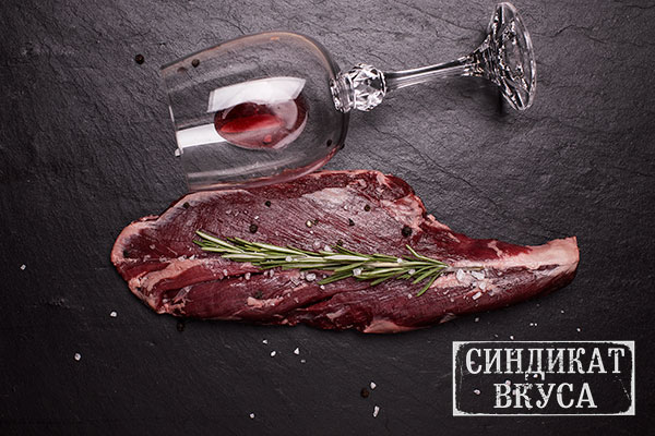 """Фото - стейк """"Стейк мясника (Onglet)"""". Говяжье мясо. Как выглядит Стейк мясника (Onglet) - фотография. Сейкхаус,Мясной ресторан Харькова - 44 Синдикат Вукса."""